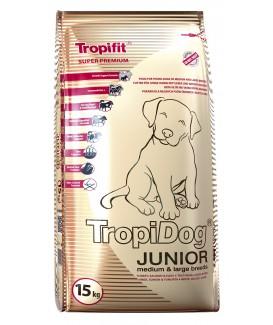 TropiDog Super Premium Junior M&L, Turkey, Salmon , Eggs 15kg