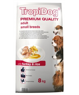 TropiDog Premium Adult S Turkey & Rice 8kg