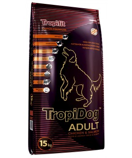 TropiDog Super Premium Adult M&L, Turkey, Salmon ,Eggs 15kg
