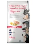 TropiDog Premium Adult M/L Turkey & Rice 15kg